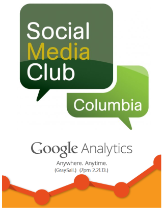 Social Media Club Columbia on Google Analytics 2.21.13